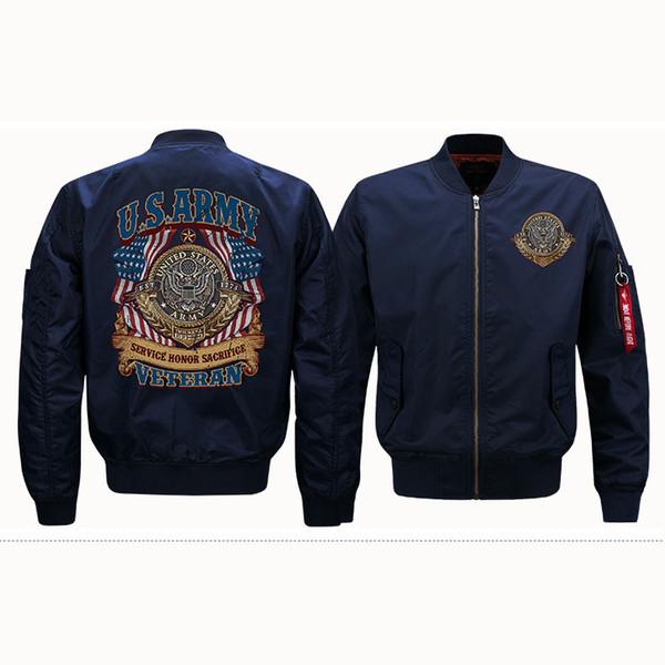 Mens Designer Jacken Luxus US ARMY Muster Mantel Mode Trandy Street Wear Casual Herren Kleidung 4 Farben asiatische Größe S-6XL