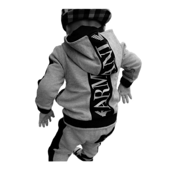 BABY SETS FASHION SPORTS HOODIE SWEATSHIRT PANTS SET FOR BABY INFANT KIDS OUTERWEAR SET