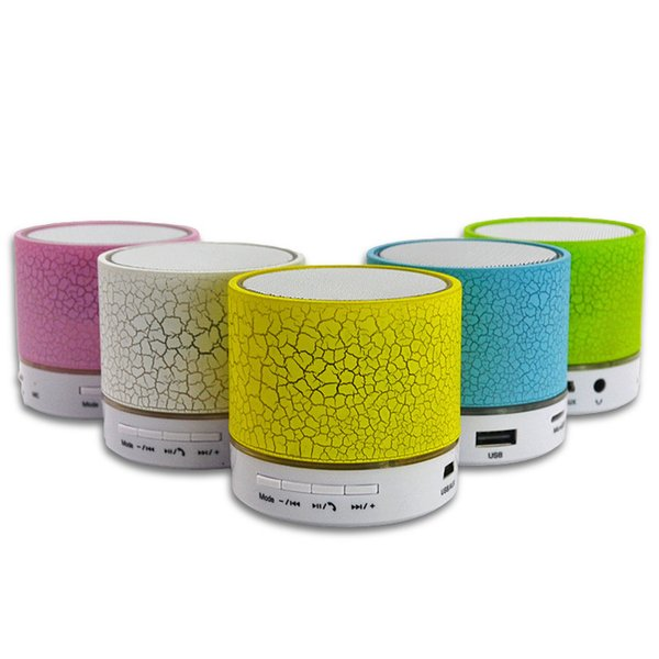 Free DHL A9 Bluetooth Speaker LED Light 50 Pieces Mini Colorful Wireless A9 Bluetooth Speaker USB Portable Bluetooth Speaker