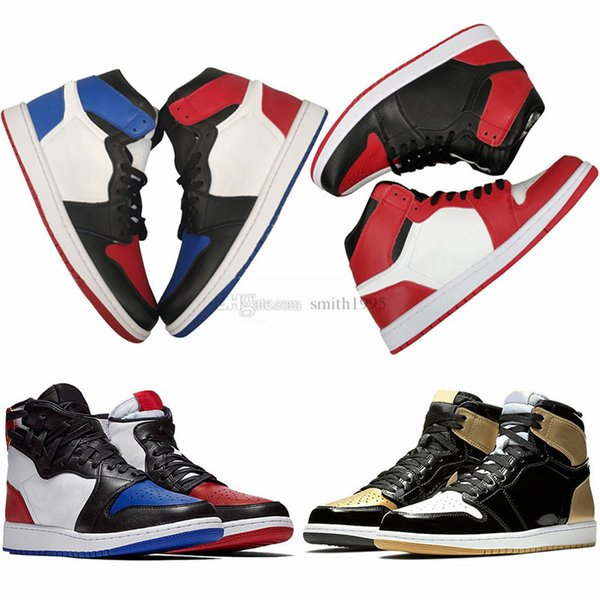 Shoes Basketball 1 1s Mens Blue Gold Black Toe Golden Harvest Pass The Torch Camo Pack Shadow Sports Sneakers 40-47 Wholesale