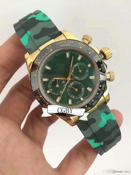 Orologio meccanico da uomo di fascia alta da uomo 3A.116500LN cinturino in gomma color.Luxury orologio da uomo automatico, orologio sportivo da uomo