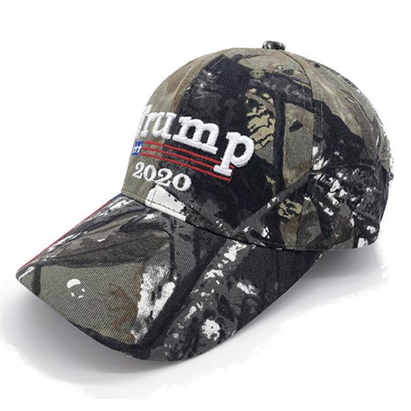 Trump Camuflaje sombreros Donald Trump 2020 Gorras tejidas Sombreros americanos EE.UU. Camo napback Sports Beach Golf Cap