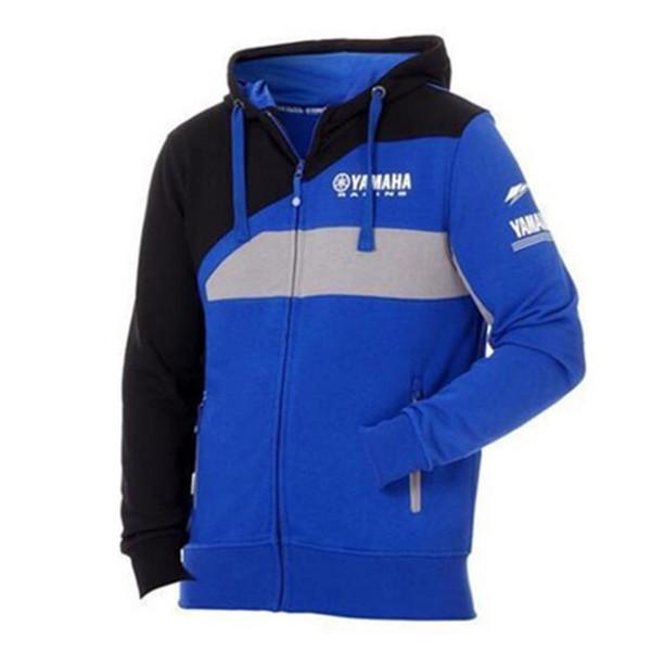 Мужская молния толстовки MOTO GP хлопок Куртка для YAMAHA завод Спорт езда мотоцикл толстовка ветрозащитный мотокросс куртка