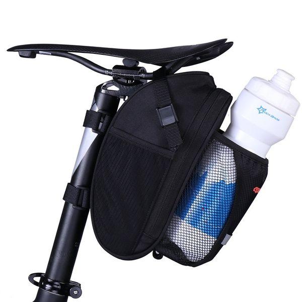 Bike Saddle Bag Rainproof Black Nylon Rear Rack Water Bottle Bag For Bicycle Fold Universal Fietstassen MTB Cycling Accessories #191487