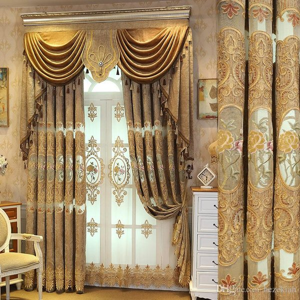 2019 Blackout European Curtains New Living Room Bedroom Curtains Finished  Embroidered Curtain Fabric From Samul, $24.13 | DHgate.Com