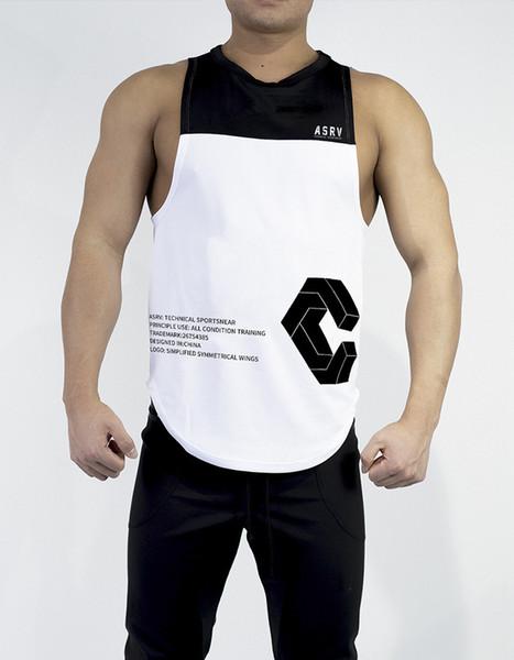 2019 Fitness impression sans manches top mens gyms stringer débardeur bodybuilding tanktop hommes sportwear maillot de mode
