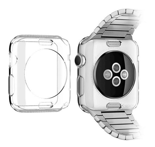 Cubierta transparente de la caja protectora transparente ultra delgada PC protectora para Apple Watch Series 3 2 1 iwatch 38mm 42mm Accesorios inteligentes
