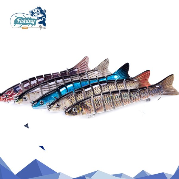 1 pc fishing lure swimbait 13cm 28g hard lure crankbait sinking multi jointed swimbait hard artificial bait lures fishing tackle thumbnail