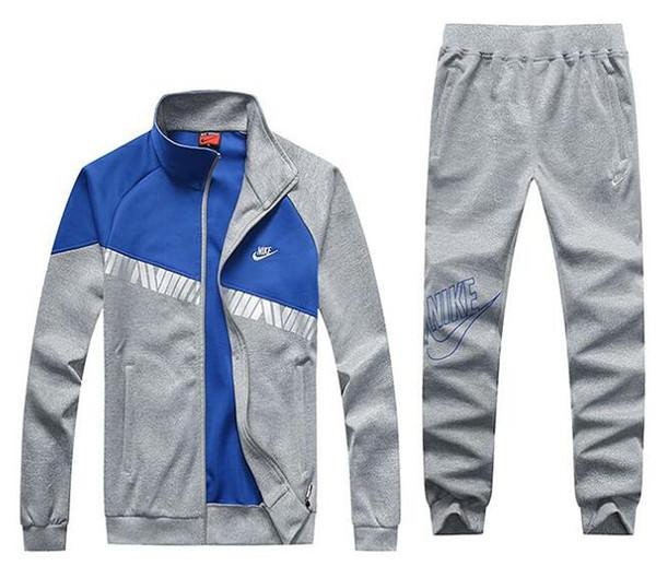 NK Suit Hot Sale Sport Brand Chándales para hombres Raya lateral Chaquetas con capucha de manga larga Pantalones Jogger Ropa deportiva para hombres Nuevo