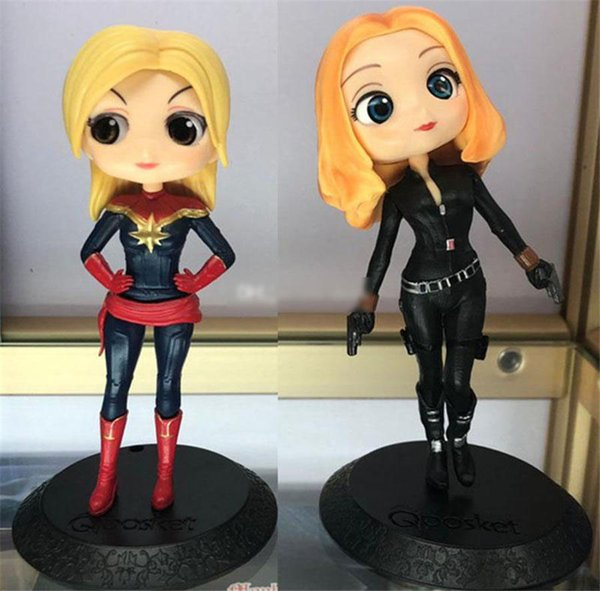 Captain Marvel PVC toys Funko Pop Black widow Action Figure With Box Avengers Alliance 3 Big Eye Doll Series Gift kids toys