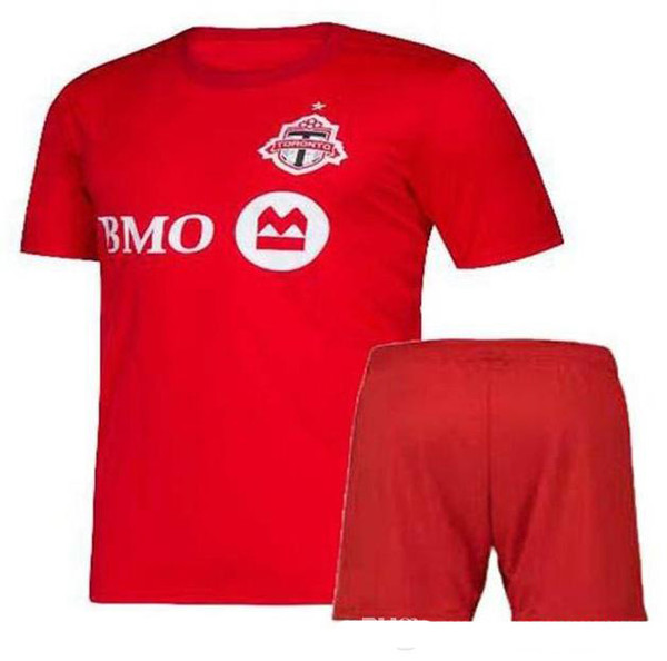 2019 Toronto Soccer Kits Home Red Football Sets 19/20 Bradley ALTIDORE OSORIO POZUELO Soccer Jersey Shorts Mens Sports Uniforms