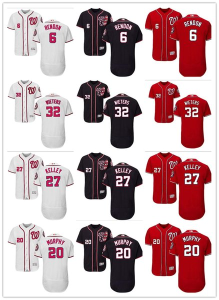 timeless design b4bc7 89c77 2018 Custom Men'S Women Youth Washington Nationals Jersey #6 Anthony Rendon  20 Daniel Murphy 27 Shawn Kelley 32 Matt Wieters Baseball Jerseys From ...