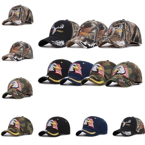 American Flag Baseball Cap 11 Styles Eagle Embroidery Snapback Camo Outdoor Sports Tactical Hats Party Hat 4849
