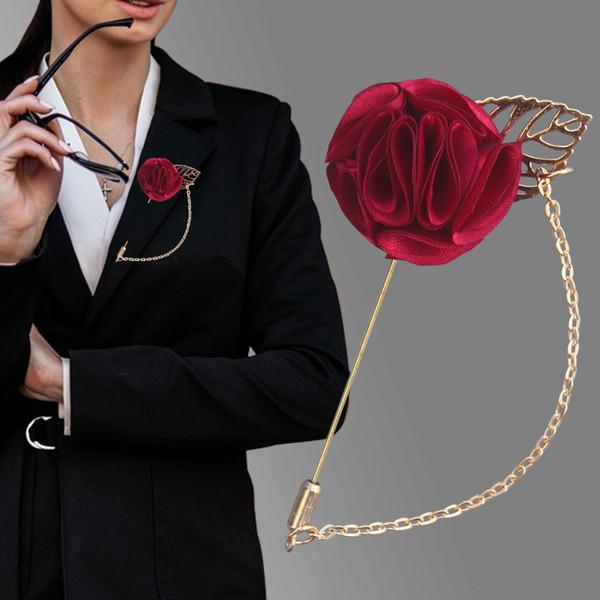 Cadena Traje del Nuevo Diseño Boutique de la ropa de los hombres Accesorios Telas sujetador de ropa broche Transfronterizo de la venta caliente mujeres XH1327Y