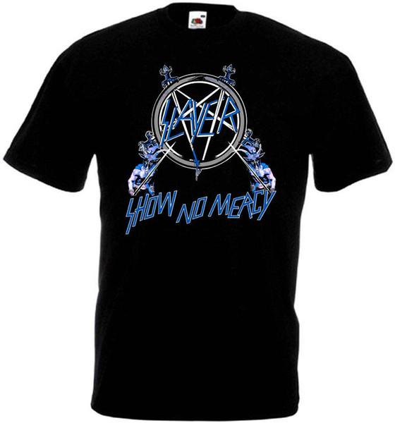 Slayer Show No Mercy v3 футболка черный мусор хэви-метал всех размеров S-5XL смешно бесплатная доставка унисекс повседневная