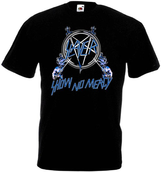 Slayer Show No Mercy v3 T shirt noir corbeille heavy metal toutes tailles S-5XL
