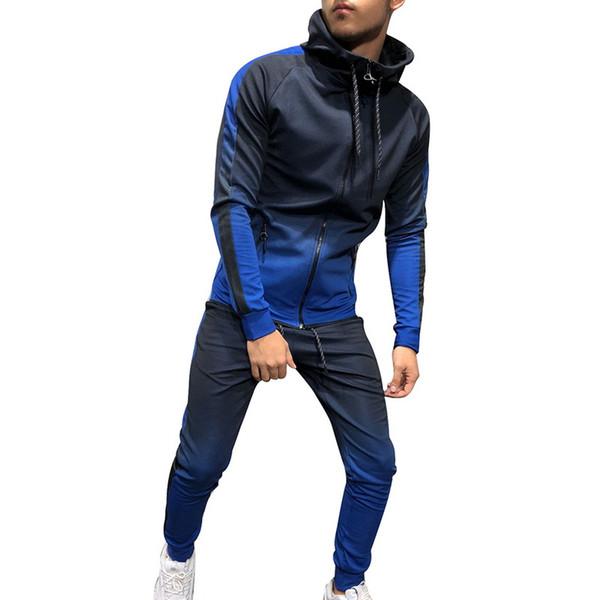 Oeak 2019 Oversized Men Set Casual Sportwear Hoodies Sweatshirt Pants Suit Male Fashion Printed Hip Hop Outwear Mens Tracksuit