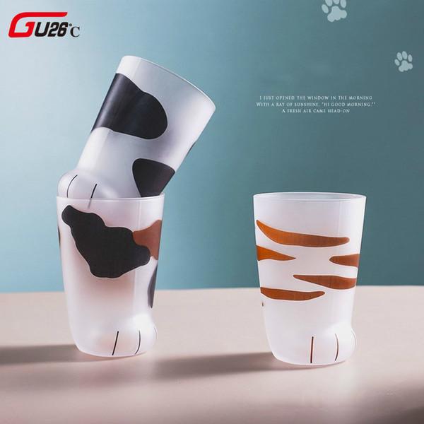 Kreative Nette Katze Glas Tiger Paws Büro Kaffeetasse Tumbler Persönlichkeit Frühstück Milch Porzellan Tasse Geschenk Q190525