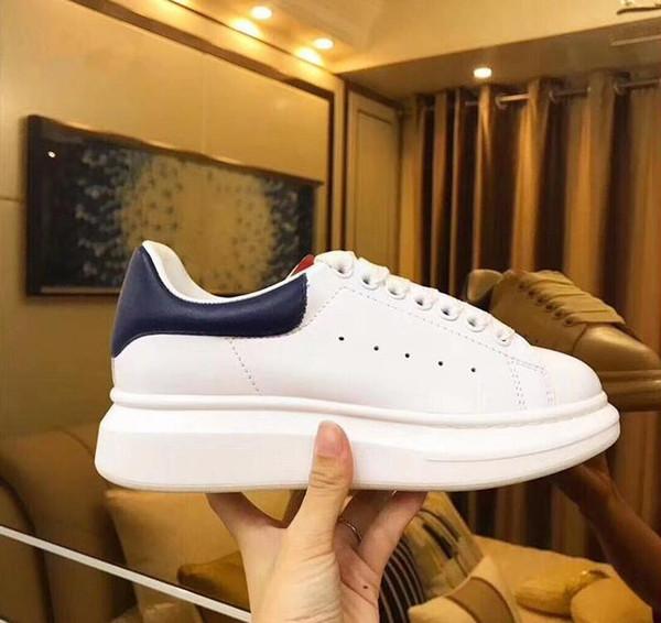 Scarpe da ginnastica di design Sneakers 3M riflettenti in pelle bianca con plateau Sneakers Donna Uomo Flat Casual Scarpe da sposa per feste Sneakers sportive in pelle scamosciata