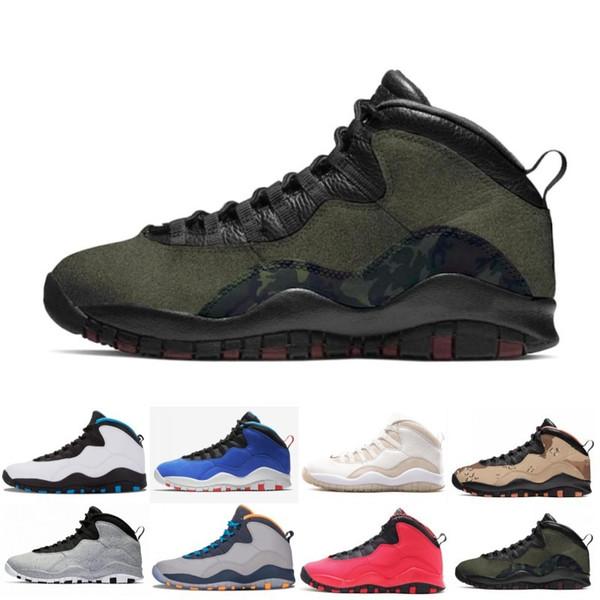 Desert Camo 10s Mens Basketball Shoes Woodland Orland Cement 10 Westbrook Im back retros retro Dark Smoke Grey Steel Men sports Sneakers