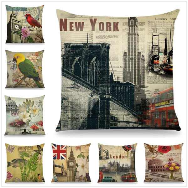 Hot Fashiopn Scenic Spots Pillow Case Cushion Cover Home Party Bed Decoration Softs Gifts Free Shipping