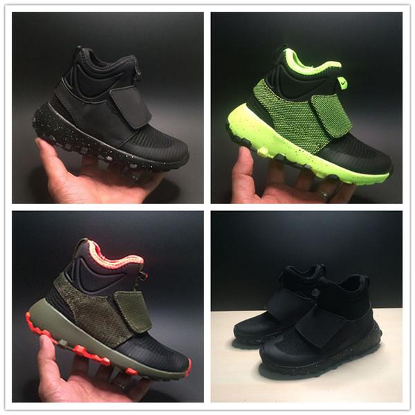 2019 Yazında Yeni Çocuk Örgü Gelgit Ayakkabı Erkek ve Kız Moda Eğlence Spor Ayakkabı