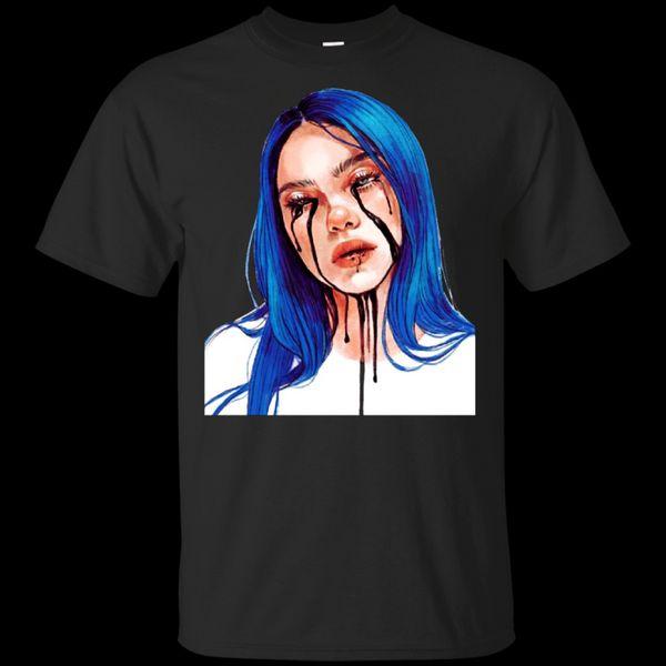 Billie Eilish T-shirt quando il T-shirt Partito 039 Black-Navy per Uomo-WomenFunny Tee Shirt Hipster Estate