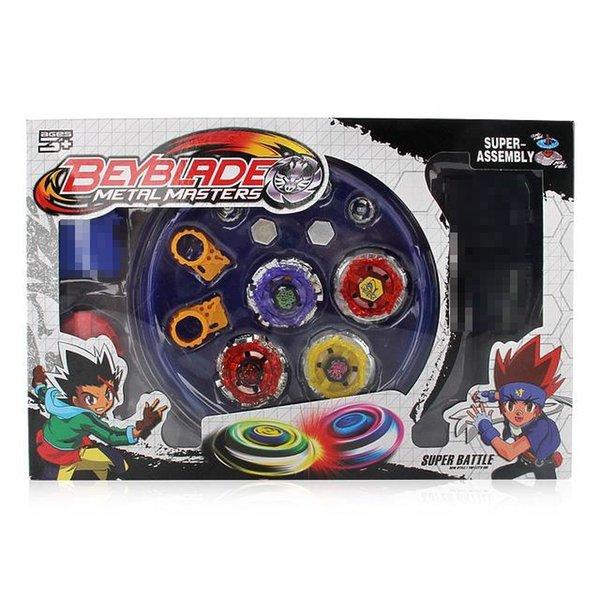 Spinning Top 4D Beyblade burst With Launcher Arena Metal Fight Battle Fusion Classic Toys AA26 With Box For Kid Gift