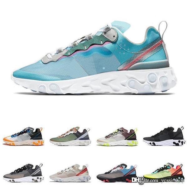 React Element 87 Undercover Men Running Shoes For Women Designer Sneakers Sports Mens Trainer Shoes Sail Light Bone Royal Tint