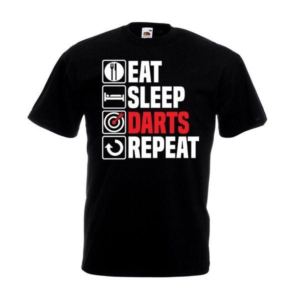 Eat Sleep Darts Repeat T Shirt Funny Dart Board Set Pub Dad Christmas Gift TopFunny free shipping Unisex Casual Tshirt top