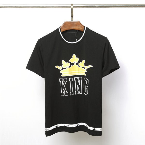 Mens Designer T Shirt Brand Women Men Tees New Arrival Summer Crown Pattern T Shirt Luxury Casual Mens Womens Tees Hot Sell Men Top Clothing