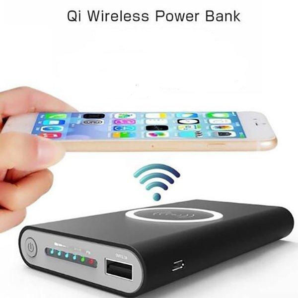 2019 Vente chargeur portable de charge rapide sans fil Banque d'alimentation universelle 10000mAh Powerbank Chargeur sans fil pour iPhone X / XR / 8P