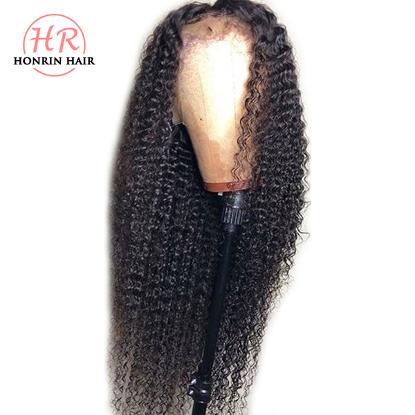 Honrin Hair 13x6 Deep Part Lace Front Wig Kinky Curly Full Lace Wig Curly Pre Plucked Malaysian Virgin Human Hair 150% Density Glueless
