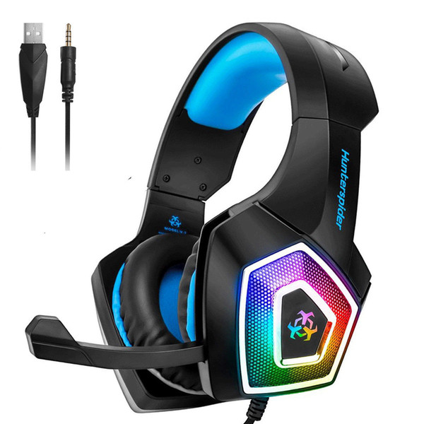Hunterspider V1 Stereo Bass Game Headset For PS4 Slim Pro Xbox One PC Mic  Best Noise Cancelling Headphones Wireless Headphones For Tv From