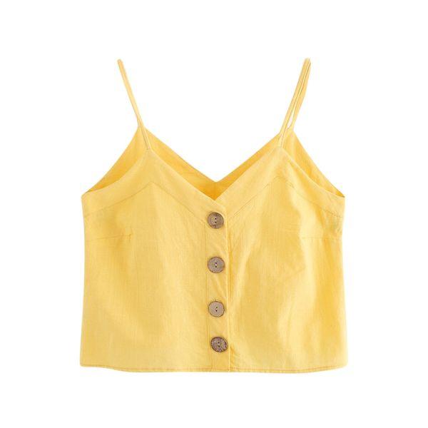 Mode Frauen Sommer V-ausschnitt Sling Kurze Weste Sommer Einfarbig Ärmelloses Trägershirt Roupa Feminina 2019