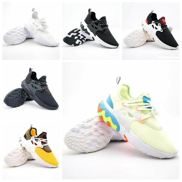 Nike React Pristo Presto Zapatos para correr Psychedelic Lava Breezy Jueves Brutal Honey Rabid Panda Negro Rojo Mujer Hombre Entrenador Zapatillas deportivas 36-45