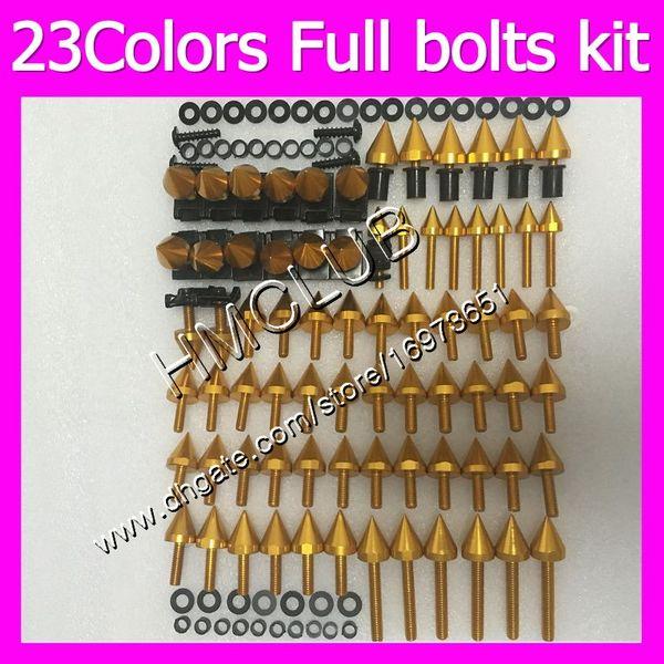 Fairing screws Full bolts kit For HONDA CBR1100XX Blackbird 96 97 98 99 00 01 02 03 04 05 06 07 1100XX MC128 OEM Body Nuts bolt screw Nut