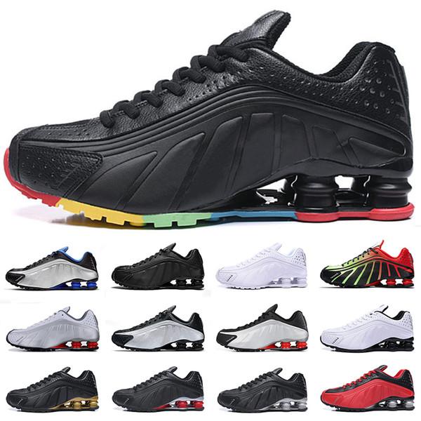 Nike Shox R4 Shox R4 hommes chaussures de course de bonne qualité OG triple noir blanc challenge rouge oreo formateurs de mode baskets de sport 40-46