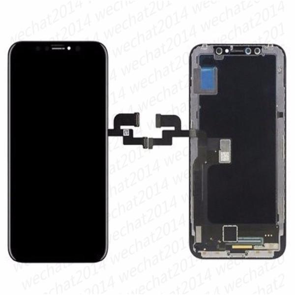 Montaggio Digitizer Touch Screen Display LCD di alta qualità TFT Parti di ricambio per iPhone X 5.8 DHL