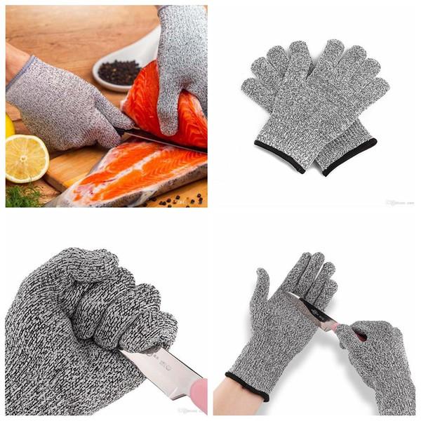 Защитные перчатки, устойчивые к порезам, стойкие к порезам, устойчивые к ударам, металлические сетчатые перчатки для мясника, пищевой уровень 5, кухонный инвентарь AAA401 p