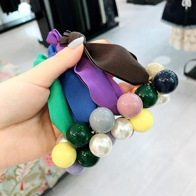 20190822 Colour ball thick rope, leather band wide hairline
