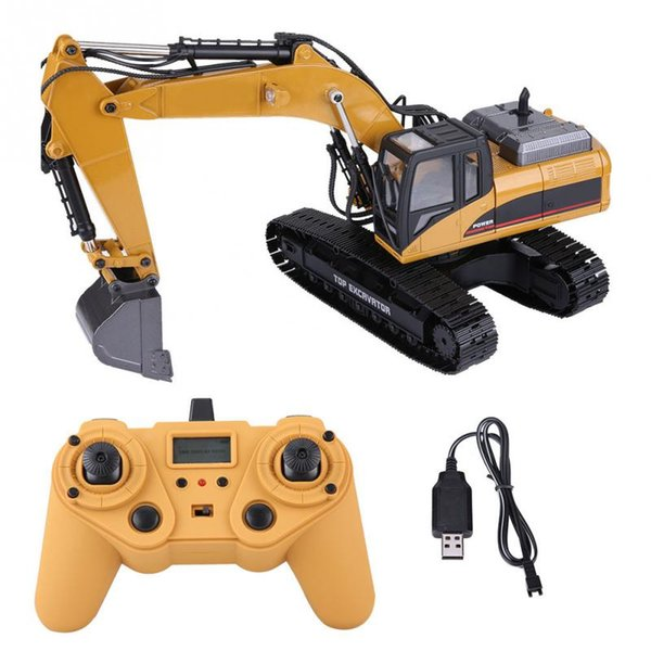 HUINA 1580 2.4G 1:14 23CH 3 in 1 Rc Hydraulic Excavator Electric Excavator Engineering Vehicle Remote Control Truck Autos toy