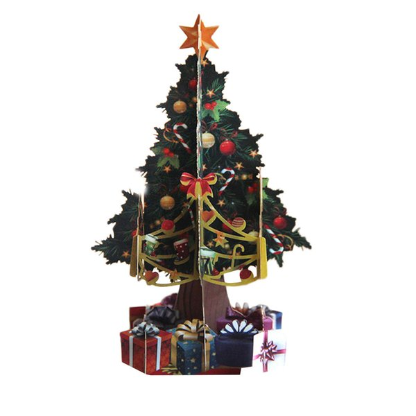 Souvenirs Wishes Greeting Card 3d Pop Up Cards Christmas Tree