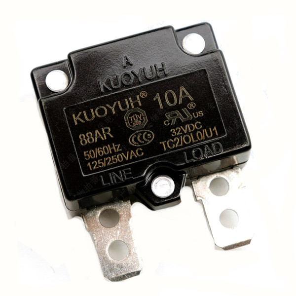 top popular Taiwan KUOYUH 88AR-10A Overcurrent Protector Overload Switch Automatic Reset 2021
