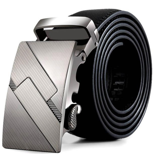 100% Brand New And High Quality Hot Sale Men Leather Automatic Buckle Belts Fashion Waist Strap Belt Waistband Hot Sale