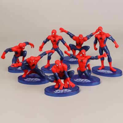 2019 8 cm X 4 cm Mini Örümcek Adam Şekil Eylem Oyuncaklar Avengers Şekil Seti Süper Kahraman Örümcek-Adam Boys Oyuncak PVC Model Koleksiyonu Çocuk Oyuncak