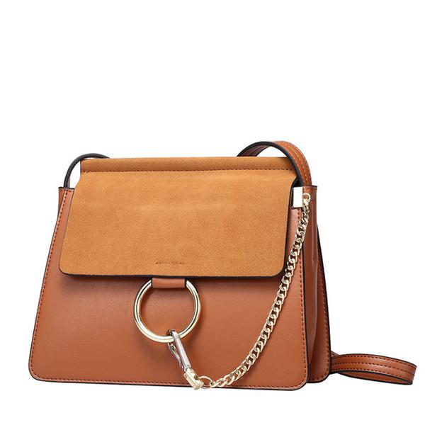 LUXURY Bags Women real leather Circle Ring designer Shoulder Bags Ladies Famous Flap Chain Messenger crossbody bag Classic handbags purse