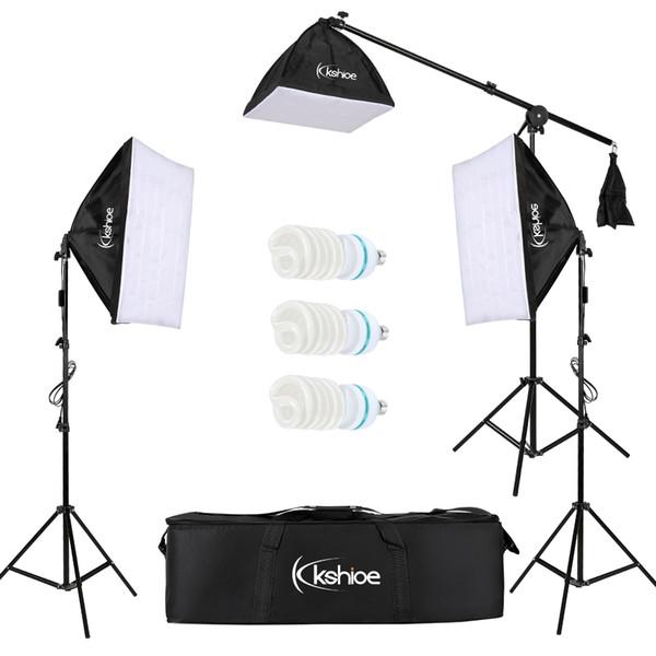 Profissional Caixa de Estúdio de Fotografia Caixa Macia Luzes de Iluminação Contínua Kit 3x65W 5000K Lâmpadas 24