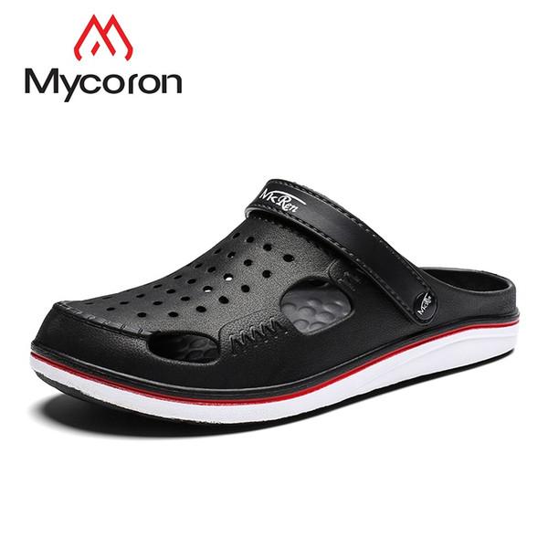 MYCORON Verano Hombres Sandalias de Moda Casual Suave de Lujo Sandalias de Diseño Para Hombres Para Hombre Zapatilla Ligera Sapato masculino