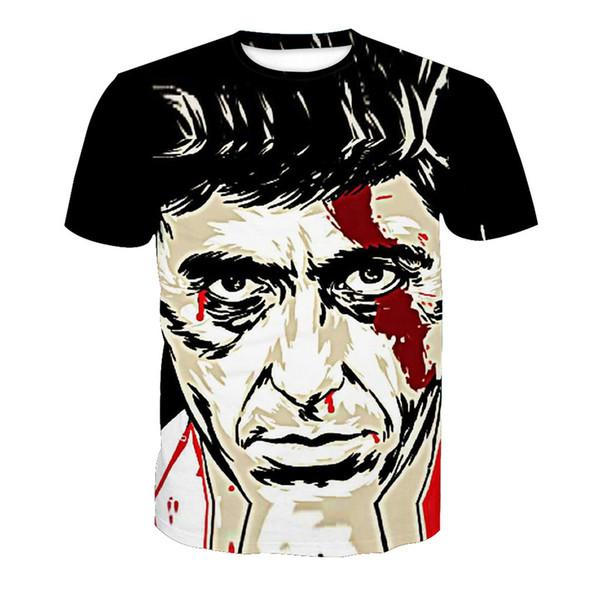 Erkekler T-shirt Adam 3D Dijital Tam Baskılı Adam Grafik Tee Gömlek Casual Tops Unisex Kısa Kollu Tees T-Shirt Bluz (RT-0512)